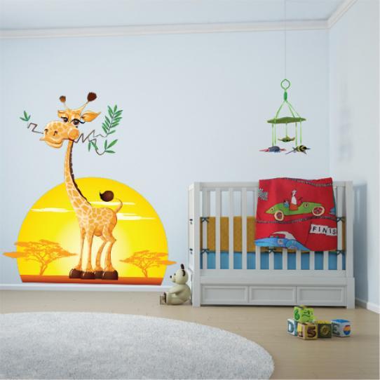 Autocollant Stickers muraux enfant girafe