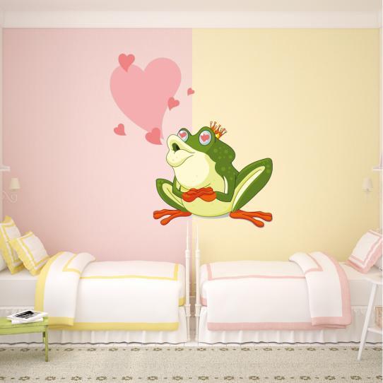 Stickers grenouille amoureuse