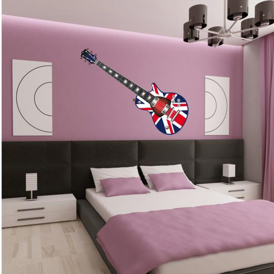 Stickers guitare angleterre