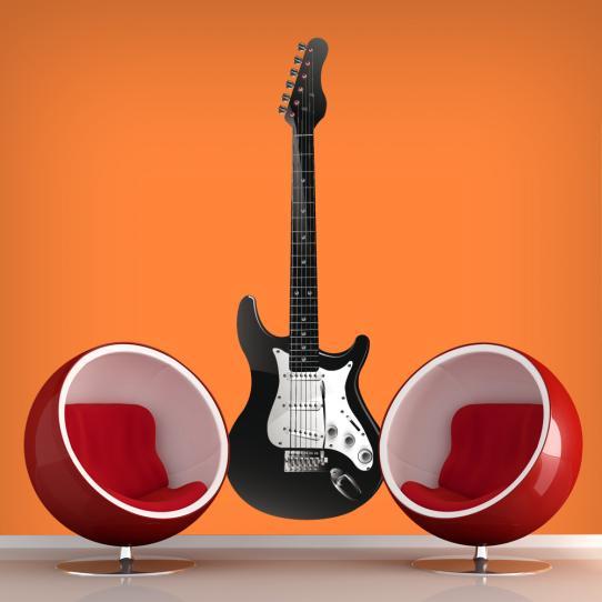 Autocollant Stickers muraux ado guitare electrique