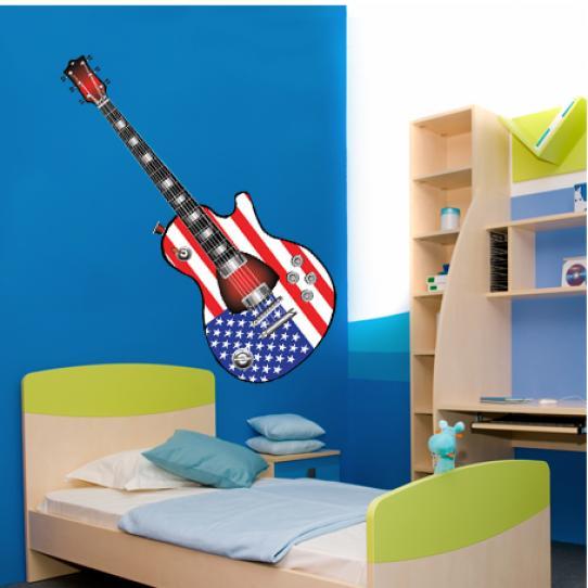 Stickers guitare usa