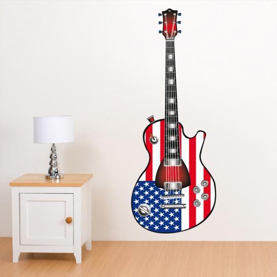 Autocollant Stickers muraux ado guitare usa