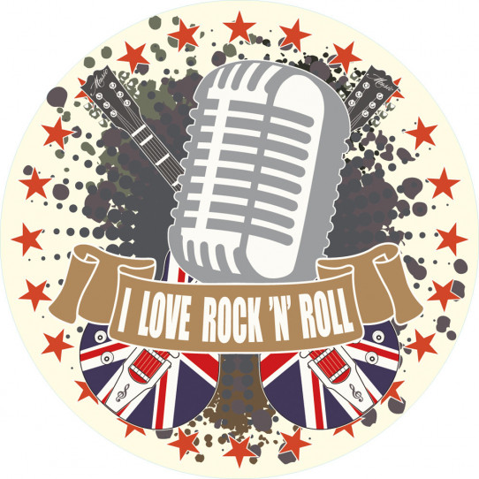 Autocollant Stickers ado i love rock'n'roll
