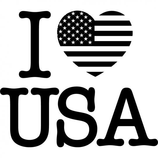 Stickers i love usa