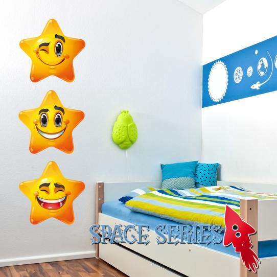 Autocollant Stickers muraux enfant kit 3 étoiles