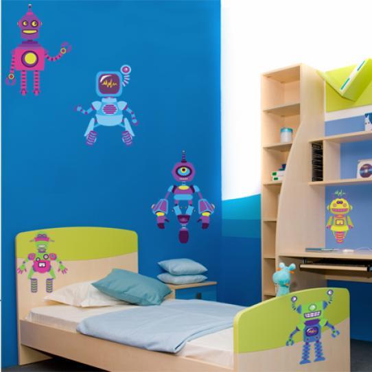 Stickers kit 6 robots