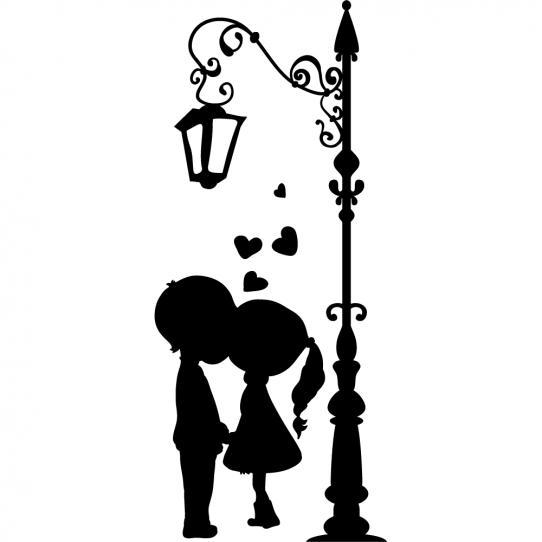 Stickers lampadaire enfants