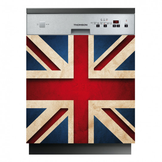 stickers lave vaisselle drapeau anglais des prix 50 moins cher qu 39 en magasin. Black Bedroom Furniture Sets. Home Design Ideas