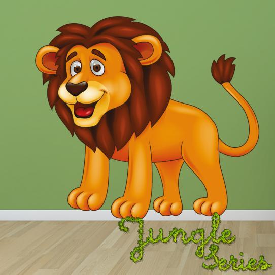 Autocollant Stickers muraux enfant lion