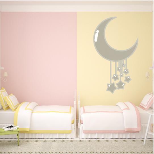 Stickers lune étoilé