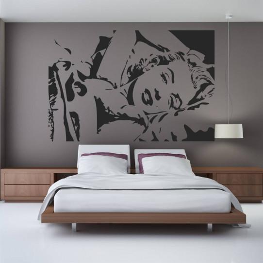 stickers marilyn monroe des prix 50 moins cher qu 39 en. Black Bedroom Furniture Sets. Home Design Ideas