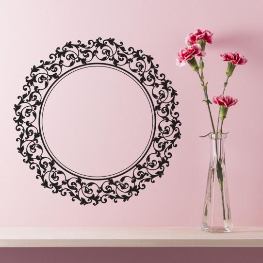 stickers miroir baroque des prix 50 moins cher qu 39 en magasin. Black Bedroom Furniture Sets. Home Design Ideas