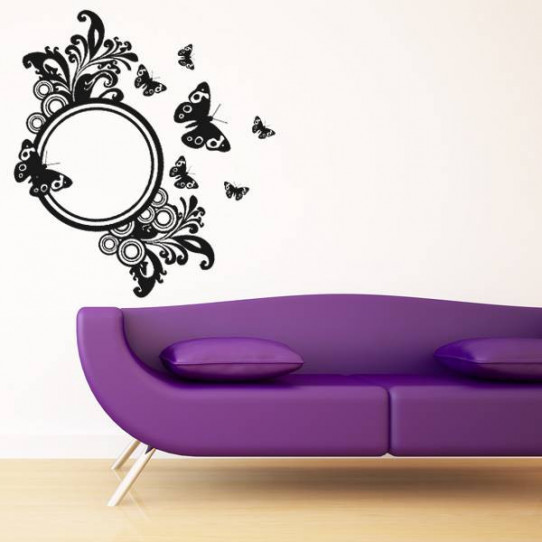 Stickers miroir papillons des prix 50 moins cher qu 39 en - Stickers miroir cuisine ...