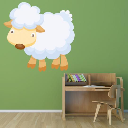 Autocollant Stickers muraux enfant mouton