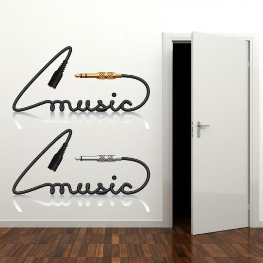 Autocollant Stickers mural ado musique