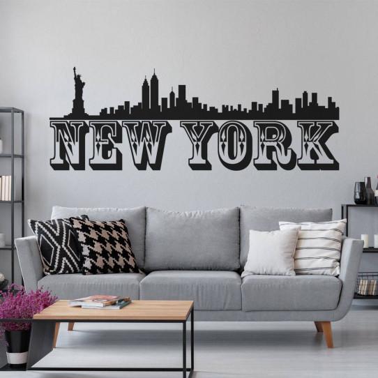 stickers new york des prix 50 moins cher qu 39 en magasin. Black Bedroom Furniture Sets. Home Design Ideas