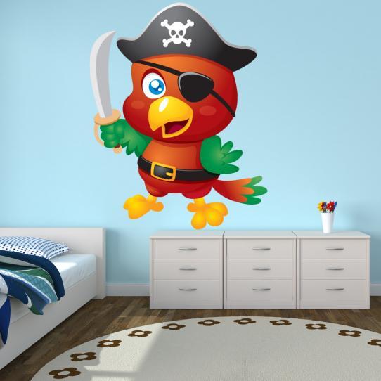 Autocollant Stickers mural enfant oiseau pirate