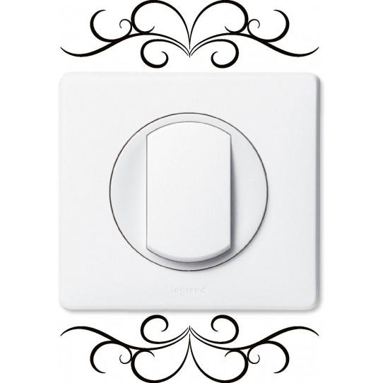 stickers ornement pour prise et interrupteur des prix 50. Black Bedroom Furniture Sets. Home Design Ideas
