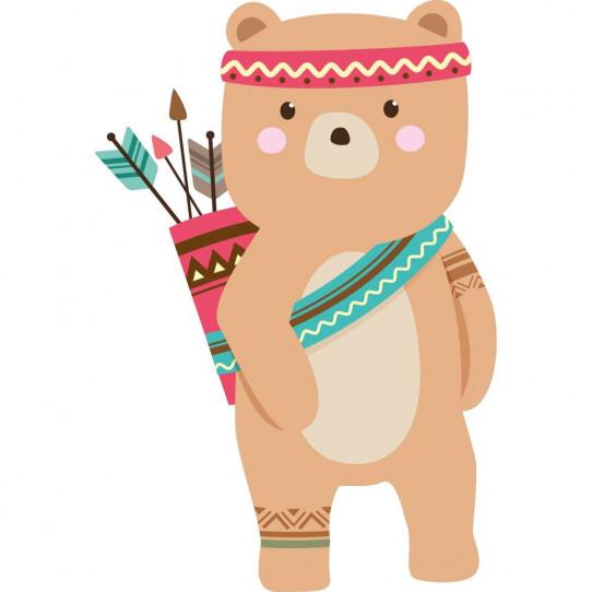 0fc37188173e Stickers ours indien - Des prix 50% moins cher qu en magasin
