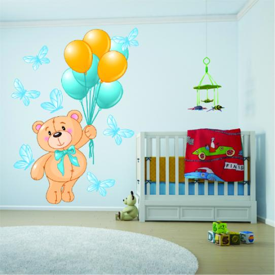 Stickers ourson ballons