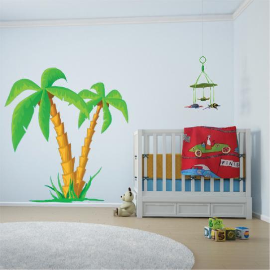 Autocollant Stickers mural enfant palmier