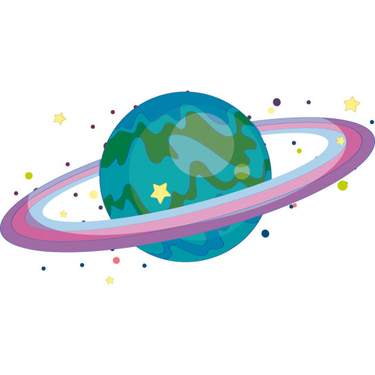 Autocollant Stickers enfant planete