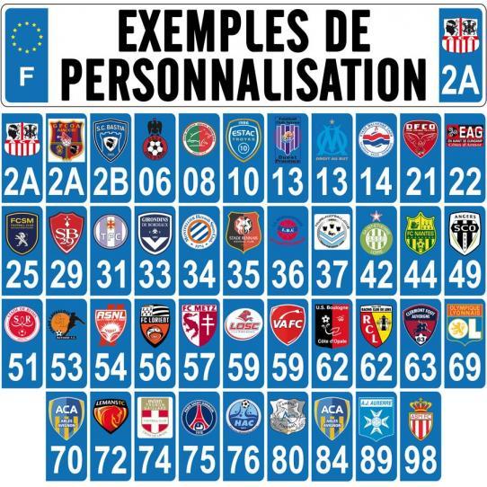 stickers plaque auto club de foot