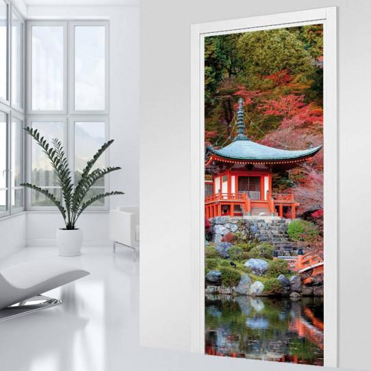 stickers porte asiatique des prix 50 moins cher qu 39 en magasin. Black Bedroom Furniture Sets. Home Design Ideas