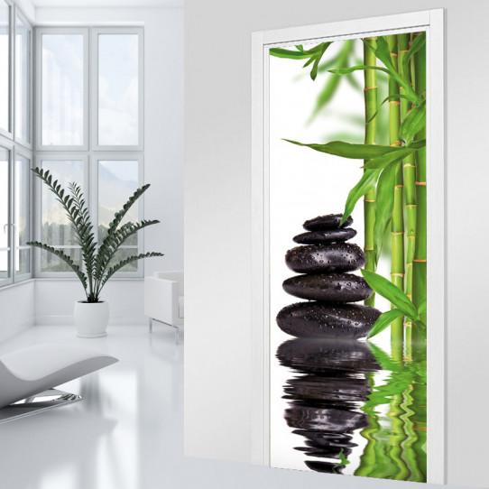 Beautiful stickers salle de bain bambou images for Salle de bain zen bambou
