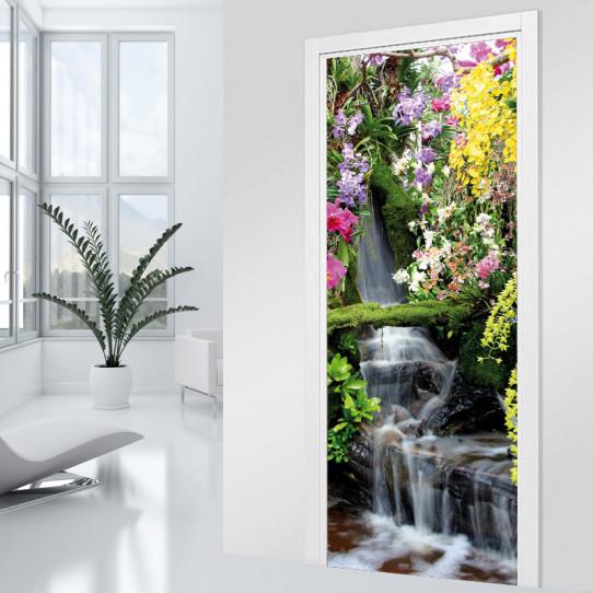 stickers porte chute d 39 eau des prix 50 moins cher qu 39 en magasin. Black Bedroom Furniture Sets. Home Design Ideas