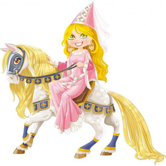 Stickers princesse cheval des prix 50 moins cher qu 39 en magasin - Princesse cheval ...