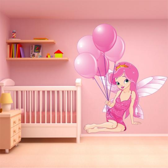 Stickers princesse ballon