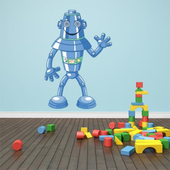 Stickers robot bleu