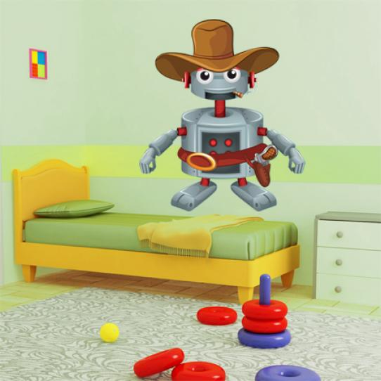 Stickers robot cowboy