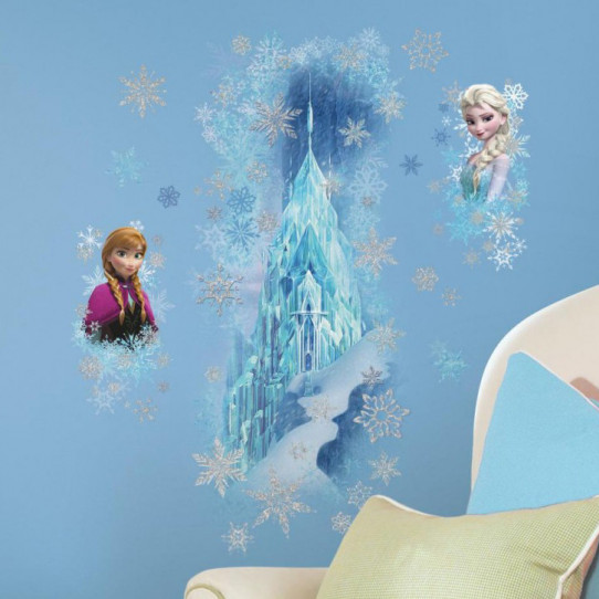Stickers scintillants le palais de glace la reine des - Palais de glace reine des neiges ...
