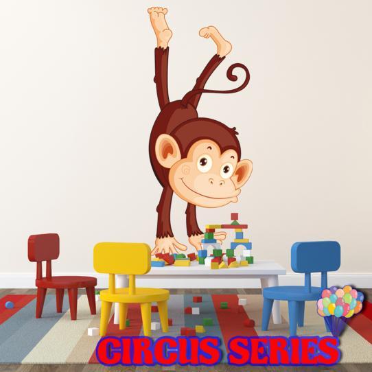 Autocollant Stickers muraux enfant singe