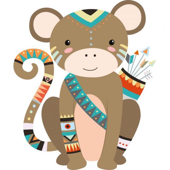 1437c5d2e356 Stickers singe indien - Des prix 50% moins cher qu en magasin