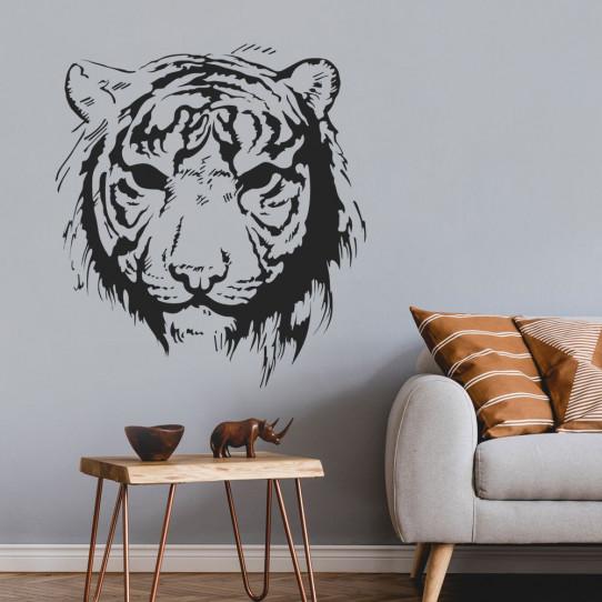 Stickers Tête de Tigre