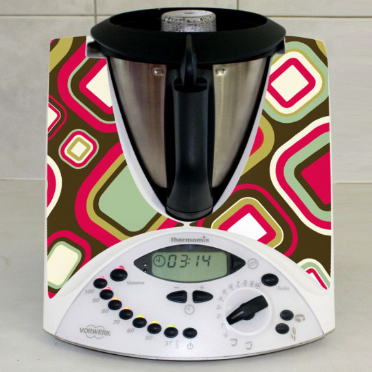 Stickers Thermomix TM31 Carré abstrait 2