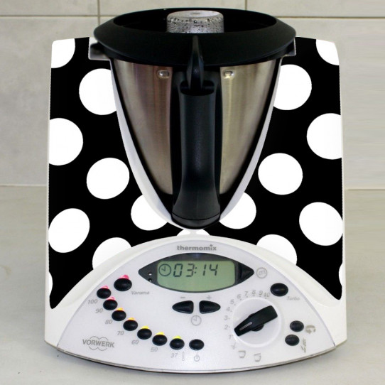 Stickers Thermomix TM31 Noir à pois