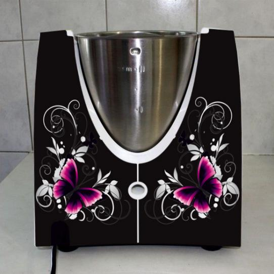 Stickers Thermomix TM 31 Papillons black