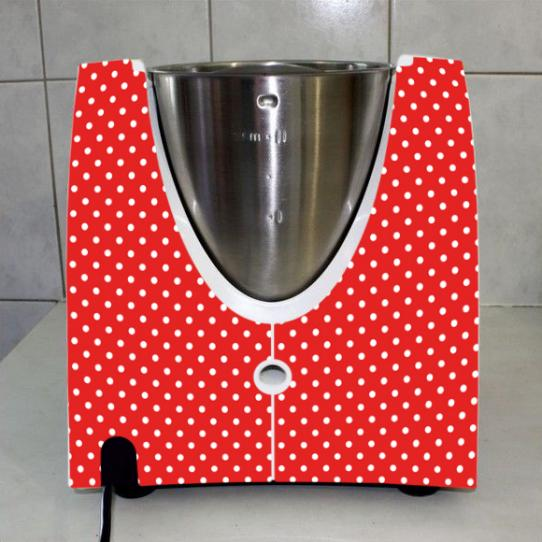 Stickers Thermomix TM 31 Petits pois red