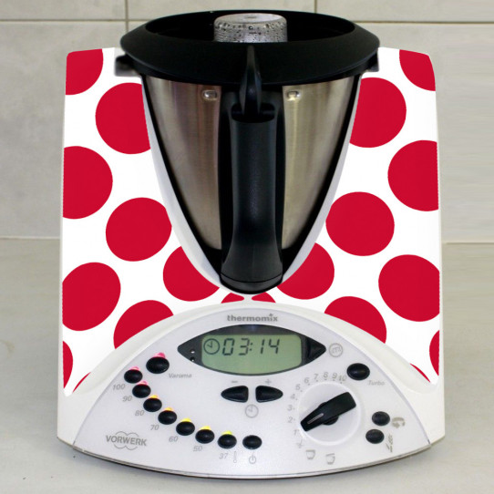 Stickers Thermomix TM31 Pois rouge 4
