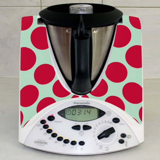 Stickers Thermomix TM31 Rond rouge
