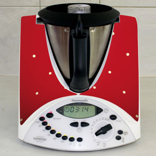 Stickers Thermomix TM31 Rouge a poins