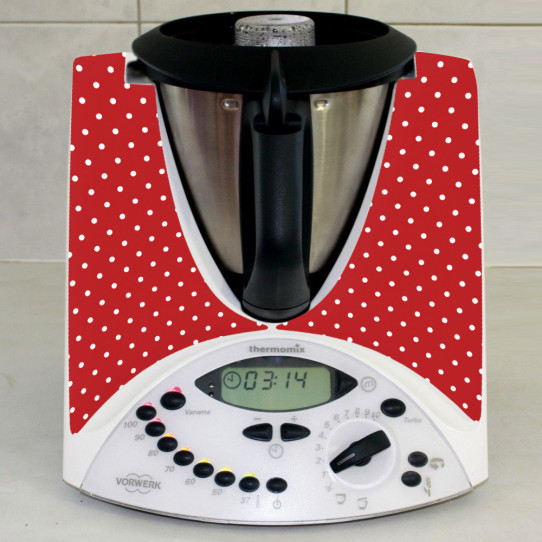 Stickers Thermomix TM31 Rouge à pois 2