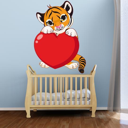 Stickers tigre coeur