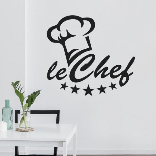 Stickers toque chef cuisine