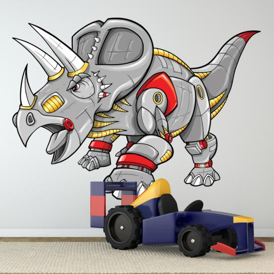 Autocollant Stickers muraux enfant triceratops