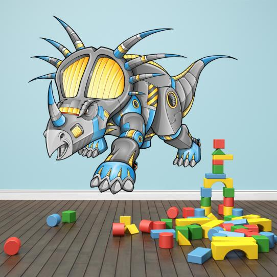 Autocollant Stickers mural enfant triceratops